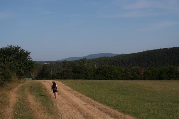 Vítkova cesta. Údolí řeky Střely. Pod 7 kilo. Trek